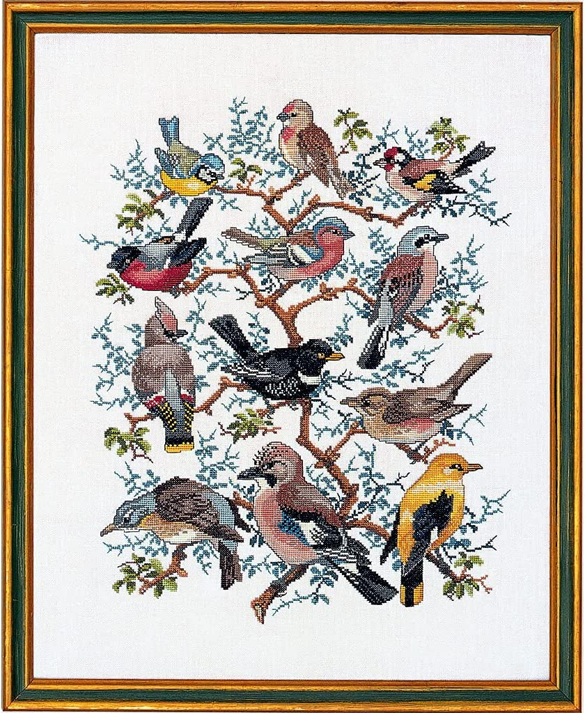 Eva Rose Stand Cross Stitch Set Pattern Tree with Baltimore Mall Counted Free shipping / New Birds