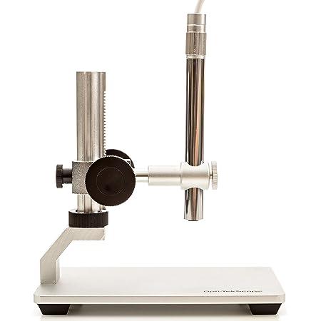 Opti-Tekscope Digital USB Microscope Camera- Advanced CMOS Sensor, True High Definition Macro 200x Zoom Imaging –1600 x 1200, Video, Superior Industrial Quality Base, 8 LED, Windows Mac Linux Chrome!