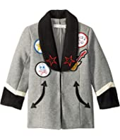 Stella McCartney Kids - Graig Shawl Embroidered Jacket (Toddler/Little Kids/Big Kids)