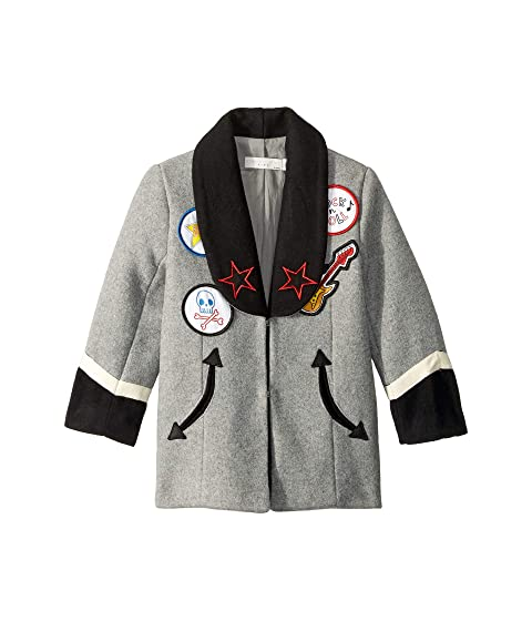 Stella McCartney Kids Graig Shawl Embroidered Jacket (Toddler/Little Kids/Big Kids)