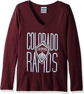 Junk Food MLS Colorado Rapids Women's Long Sleeve Tee, Small, Marn