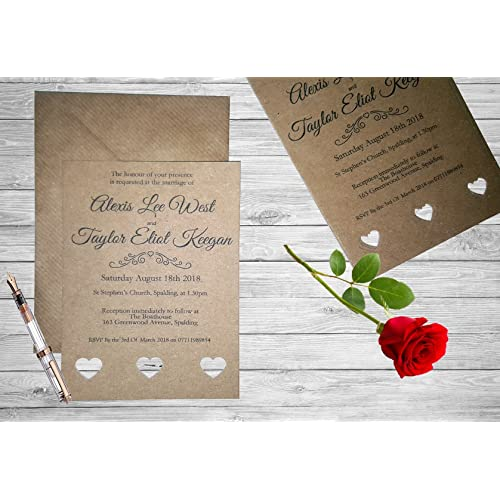 Rustic Wedding Invitations: Amazon.co.uk