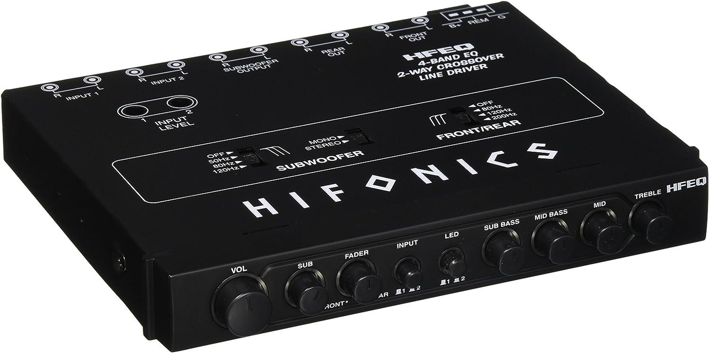 Hifonics 2021 model HFEQ 4-Band EQ Superior Line 2-Way Crossover Driver