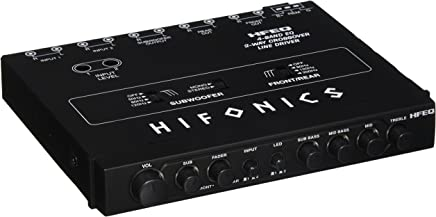 Hifonics HFEQ 4-Band EQ/2-Way Crossover Line Driver