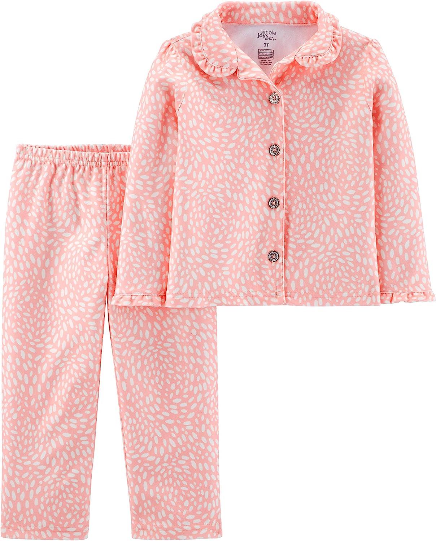 Simple Joys by Carter's Baby and Toddler Girls' 2-Piece Coat Style Pyjama Set
