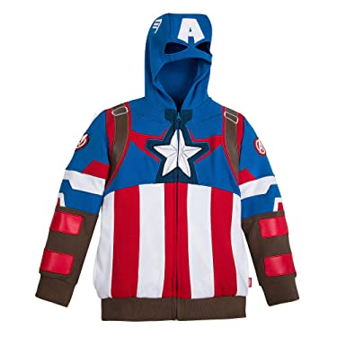 Marvel Captain America Zip Hoodie for Boys Multi