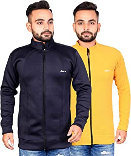 Naresh Chand Rakesh Kumar Jain Men's Woolen Full Zip Jacket Combo