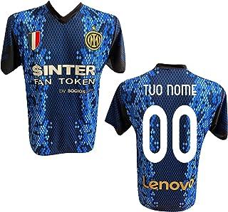F.C. Inter Maglia Replica Calcio Home Nero Blu Ufficiale Autorizzata Personalizzata Personalizzabile 2021 CALHANOGLU Corre...