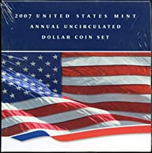 2007 U.S. Mint Annual Uncirculated Dollar 6-Coin Set w/Burnished Silver Eagle $1 Brilliant Uncirculated OGP