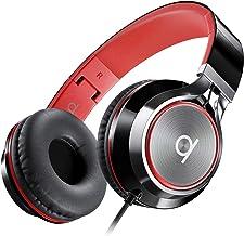 جداکننده نویز تاشو Artix CL750 بر روی هدفون گوشهای مجهز به میکروفن و کنترل میزان صدا ، تلفنهای استریو هد با سیم بند قابل تنظیم برای کامپیوتر ، لپ تاپ و تلفن همراه (سیاه / قرمز)