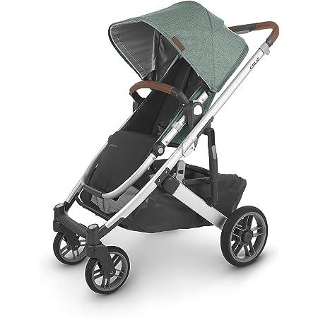 UPPAbaby Cruz V2 Stroller - Emmett (Green Melange/Silver/Saddle Leather)