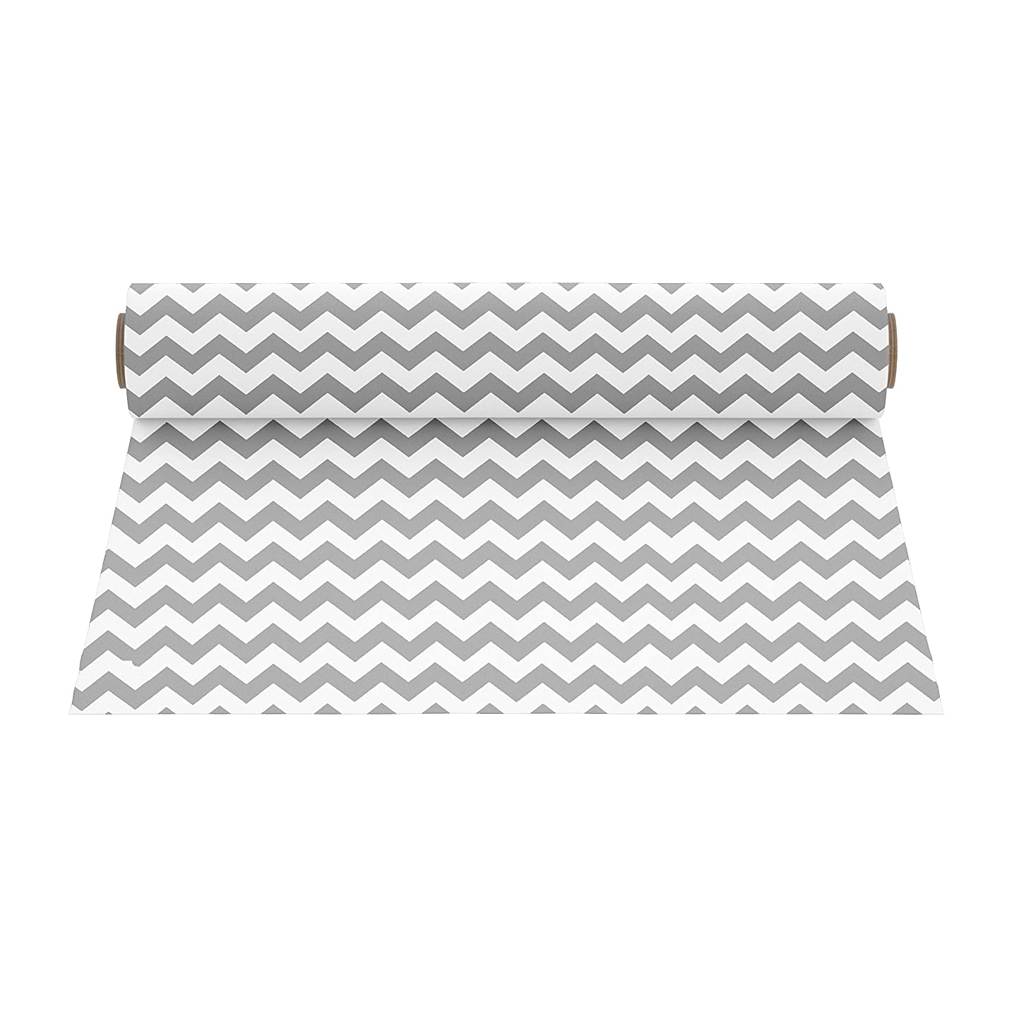 Firefly Craft Patterned Heat Transfer Vinyl for Silhouette and Cricut, 12 Inch by 19.5 Inch, Grey Chevron