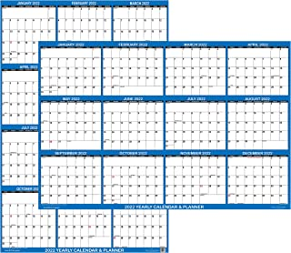 """18"""" x 24"""" SwiftGlimpse 2022 Wall Calendar Erasable Large Wet & Dry Erase Laminated 12 Month Annual Yearly Wall Planner, Re..."""