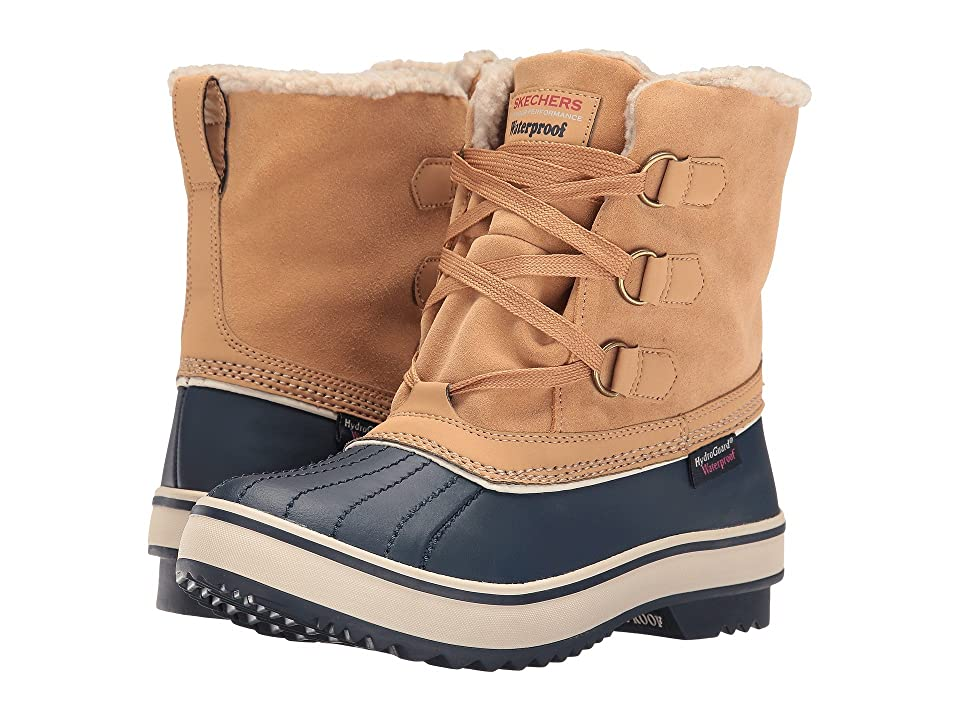 SKECHERS Highlanders (Tan/Navy) Women