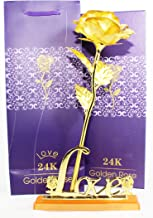 Msa 24K Certified Gold Finish Rose 10 Inches With Attractive Gift Box And Carry Bag