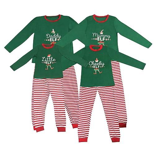 da5c94e94 Elf Pyjamas Christmas Family PJs Matching Set Dad Mum Cheeky Little Elves  Men Women Girl Boy