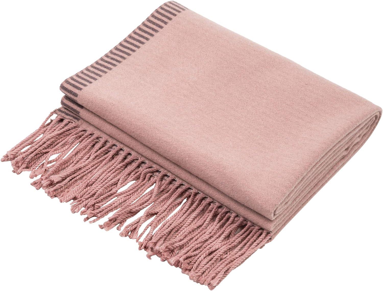 Glitzhome Women Fashion Scarf Long Reversible Scarf with Tassel Winter Shawl Wrap