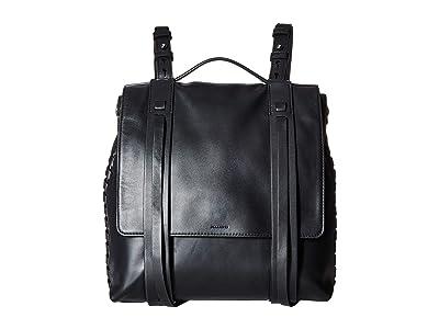 AllSaints The Fin Shoulder Backpack (Black) Backpack Bags