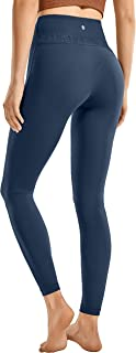 CRZ YOGA Women's Reflective High Waisted Leggings Yoga Pants Workout Leggings Naked Feeling I-25 Inches