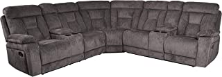 Homelegance Rosnay Manual Reclining Sectional with Console, 108
