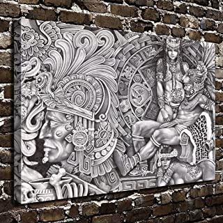 COLORSFORU Wall Art Painting Aztec Prints On Canvas The Picture Landscape Pictures Oil For Home Modern Decoration Print Decor For Living Room