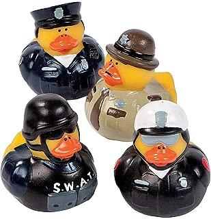 Fun Express Law Enforcement Police Sheriff Rubber Ducks - 12 Pieces