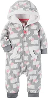 Carter's Baby Girls' Hooded Fleece Jumpsuit