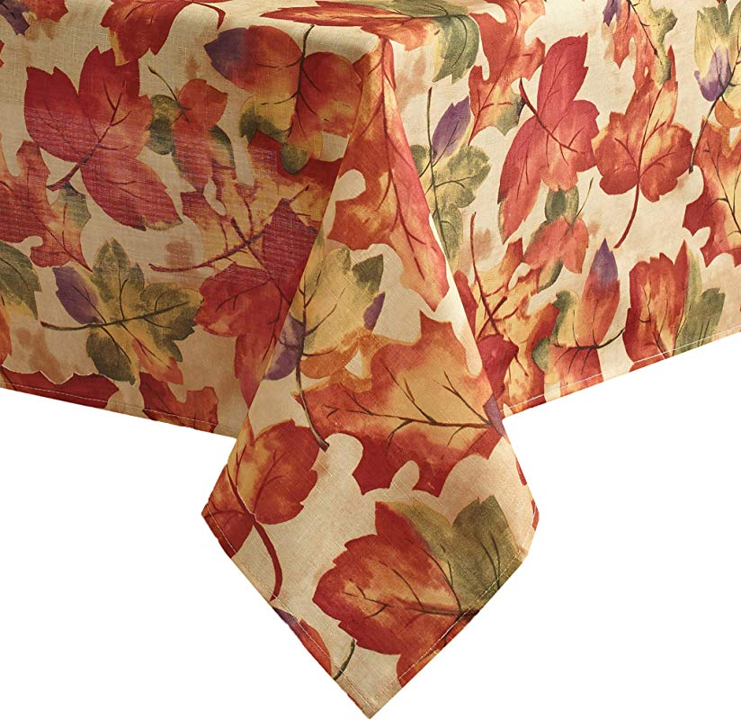 Elrene Home Fashions Harvest Festival Fall Printed Tablecloth 52 X 52 Multi