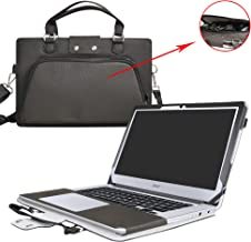 Acer Chromebook 14 Case,2 in 1 Accurately Designed Protective PU Leather Cover + Portable Carrying Bag for 14