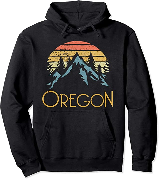 Vintage OR, Oregon Mountains Outdoor Adventure Hoodie