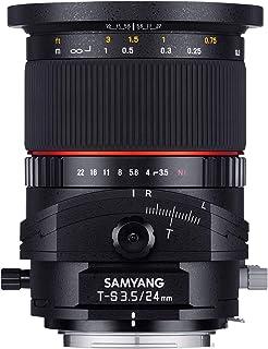 Samyang F1110901101 - Objetivo fotográfico DSLR para Canon EF (Distancia Focal Fija 24mm Apertura f/3.5-22 T/S ED AS UMC diámetro Filtro: 82mm) Negro
