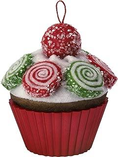 Hallmark Keepsake Ornament 2019 Year Dated Christmas Cupcakes Pinwheel Sweetness Fabric,
