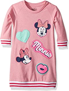 Disney Girls Big Minnie Mouse Oversized Patches Dress