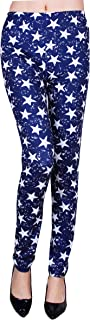 IRELIA Womens Winter Soft Printed Fleece Lined Leggings