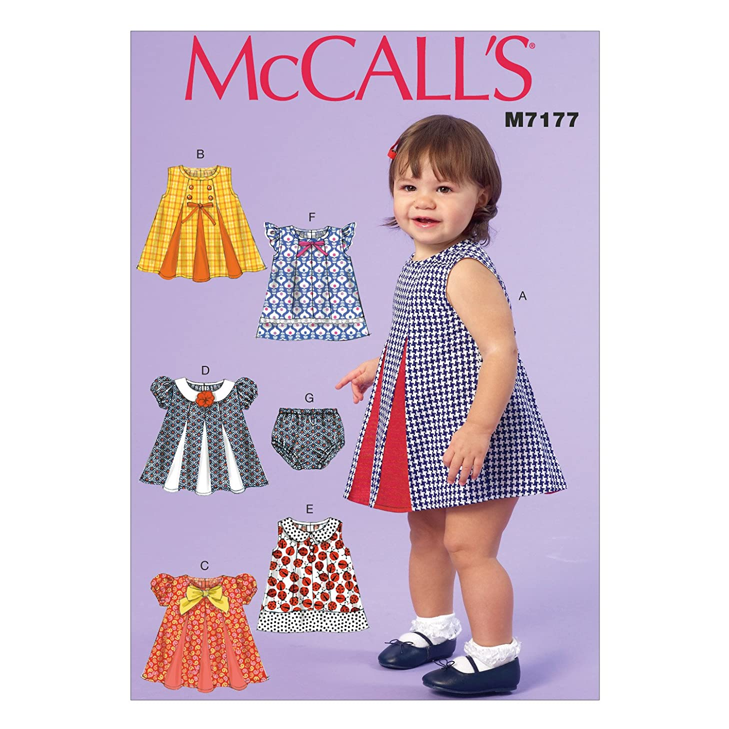 McCall's Patterns M7177 Infants' Dresses and Panties Sewing Template, YA5 in One Envelope