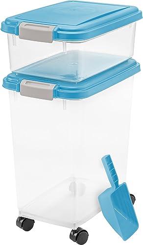 IRIS USA 3 Piece Airtight Pet Food Storage Container Combo