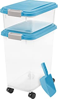 IRIS USA, Inc. 3- Piece Airtight Pet Food Storage Container Combo