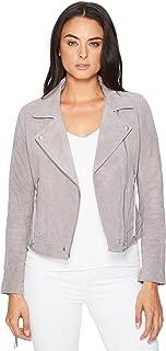 [BLANKNYC] Blank NYC Womens Suede Moto Jacket w/Fringe