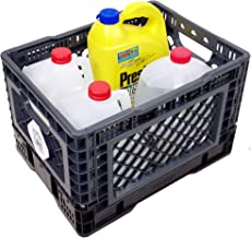 BIGANT Heavy Duty Collapsible & Stackable Plastic Milk Crate - IP403026, 26 Quarts, Small Size, Charc.Gray, Set of 1, Snap...