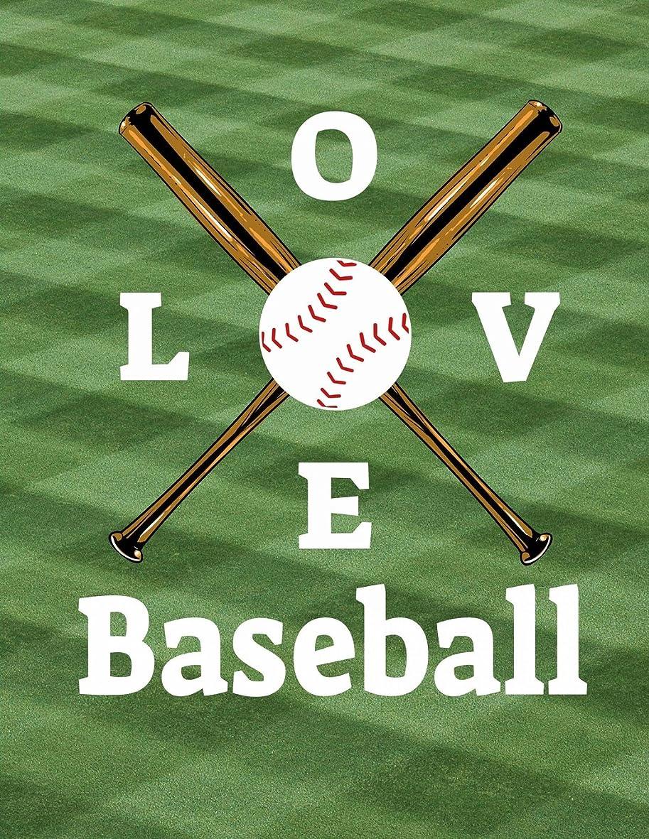 情報役立つ生命体Baseball I Love Baseball Notebook: Journal for School Teachers Students Offices - 5x5 Quad Rule Graph Paper, 200 Pages (8.5