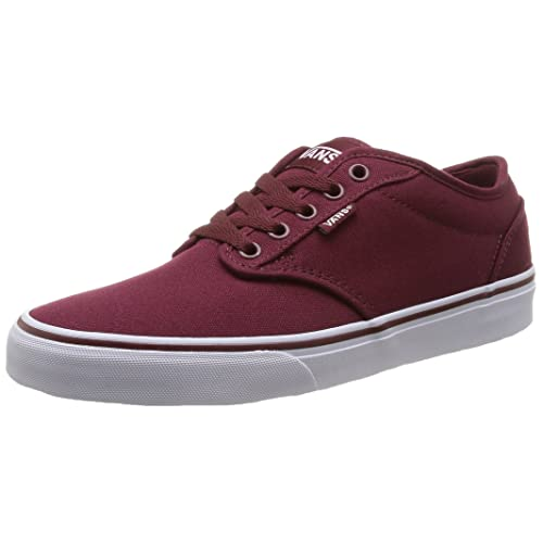 bc6cbbc43b Vans Men s Atwood (Canvas) Windsor Wine White Skate Shoe 9.5 Men US