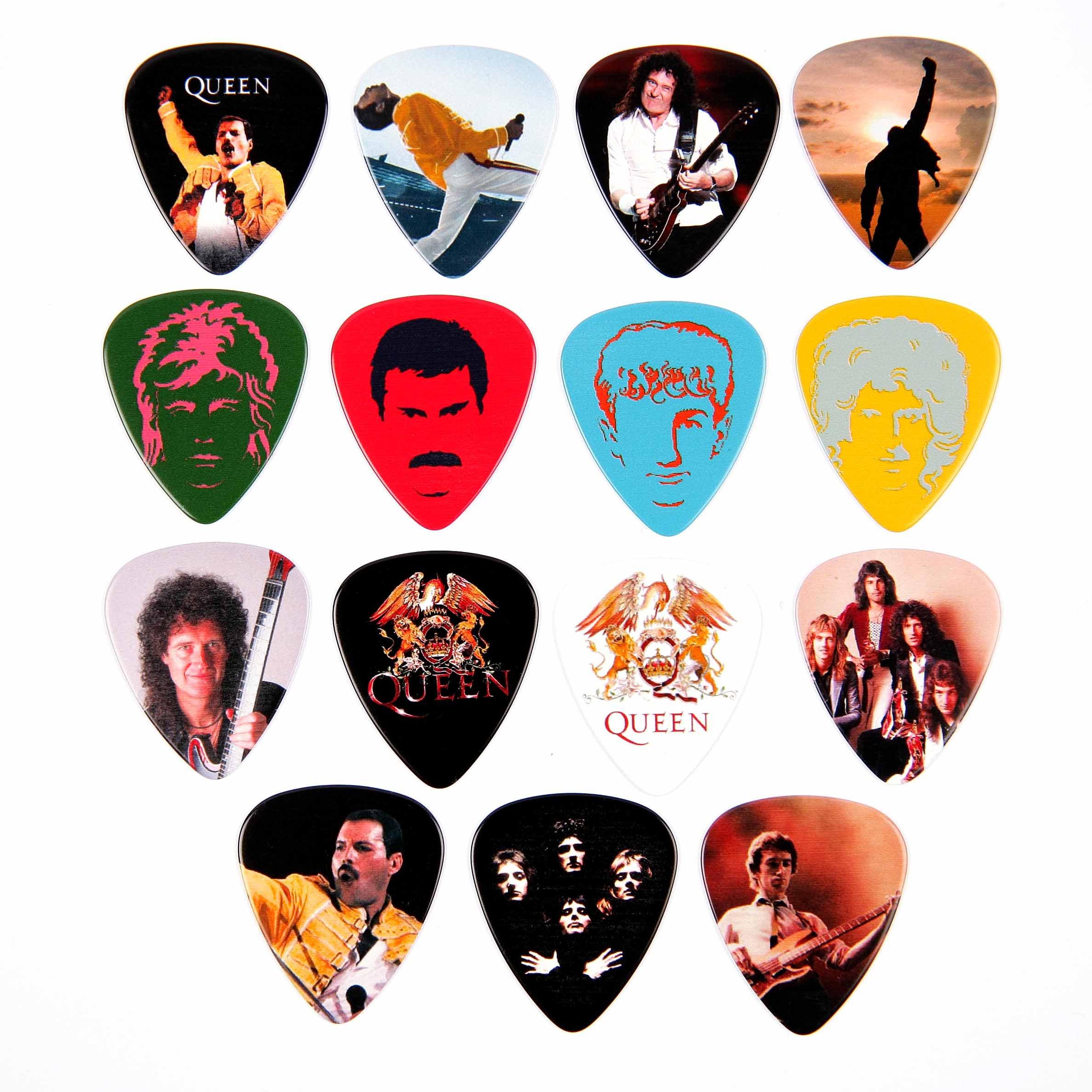 Harmony - Lote de 15 púas para guitarra, diseño de Queen: Amazon ...