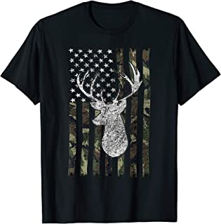Deer Hunting Buck Camouflage Flag T-Shirt