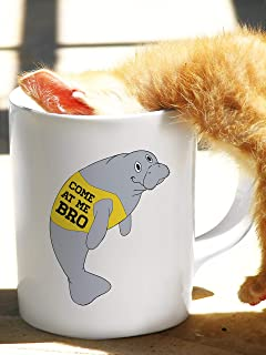 Manatee, aka the Sea Cow, Novelty Come at Me Bro Gift | Commercial Mug for any Animal Lover, Zoo Keeper or Nature Enthusiast!