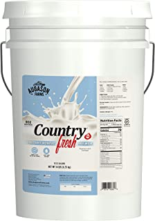 Augason Farms Country Fresh 100% Real Instant Nonfat Dry Milk Emergency Food Storage 14 Pound Pail
