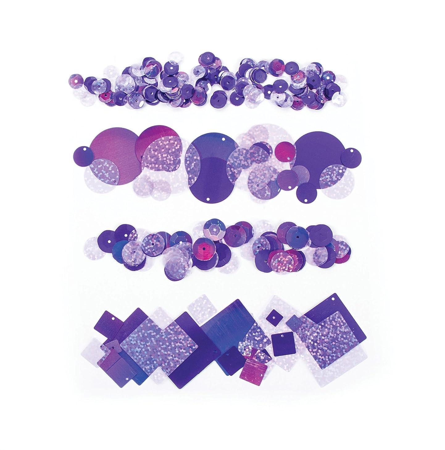 Darice SEQ127D Sequin Pack, Purple