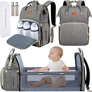 DEBUG Baby Diaper Bag Backpack with Changing Station Diaper Bags for Baby Bags for Boys Diaper Bag with Bassinet Bed Mat P...
