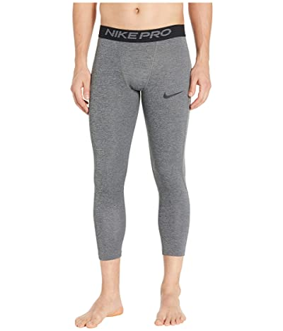 Nike Nike Pro Tights 3/4 (Dark Smoke Grey/Particle Grey/Black) Men
