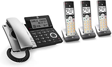 AT&T CL84307 Dect 6.0 Expandable Corded/Cordless Phone with Smart Call Blocker, Silver/Black with 3 Handsets photo