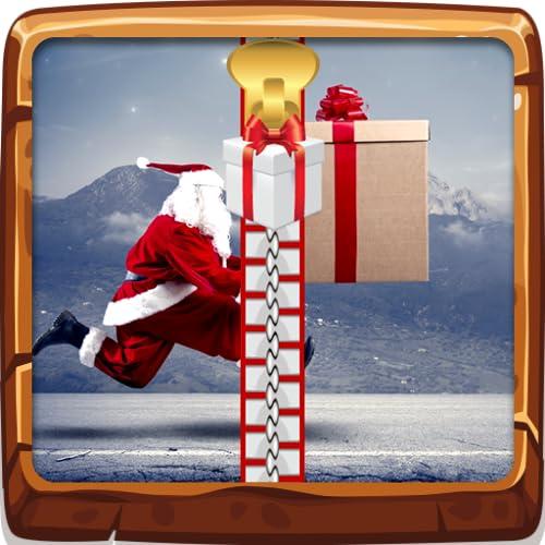 Écran de verrouillage drôle de Santa Zipper
